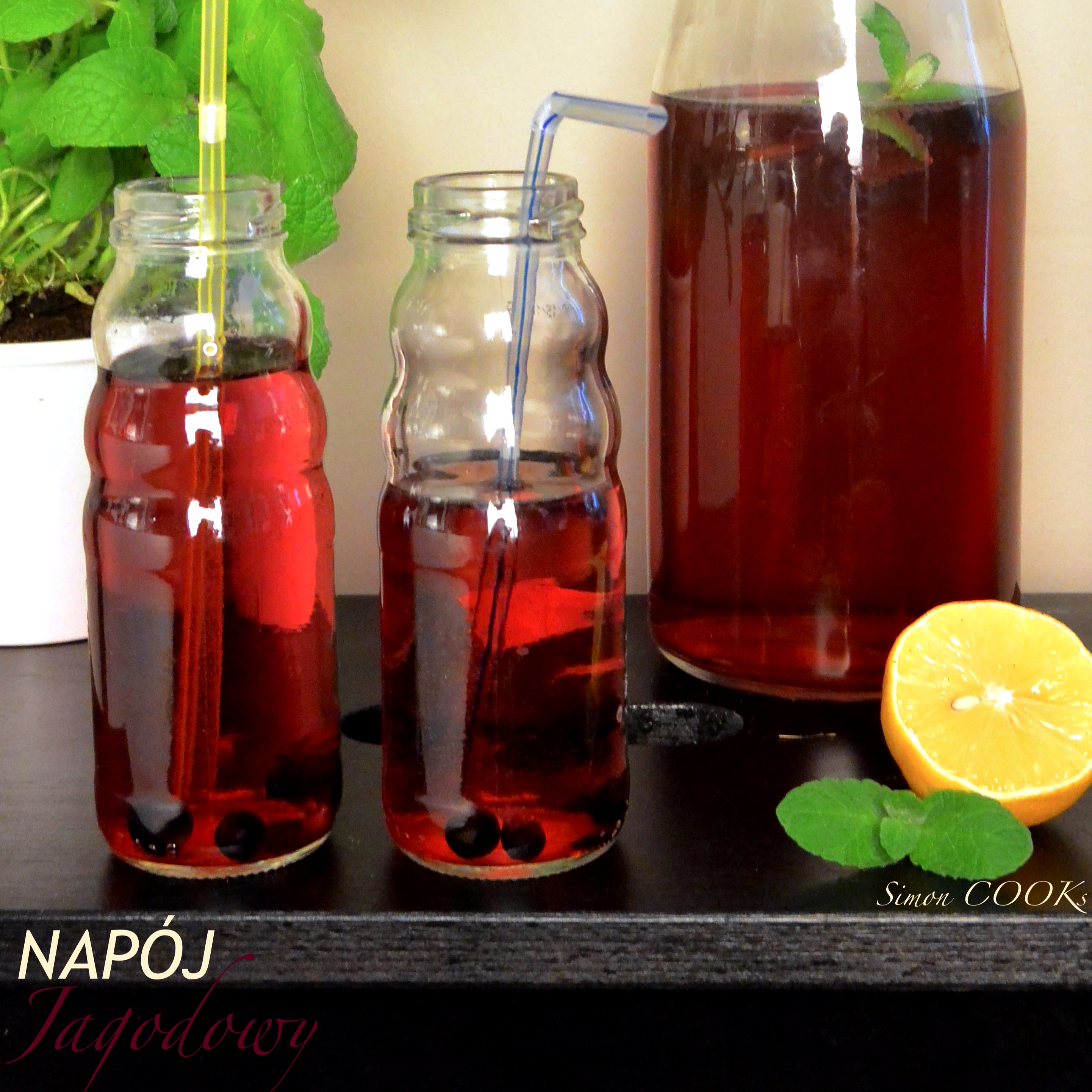 napój jagody lato cytryna mieta