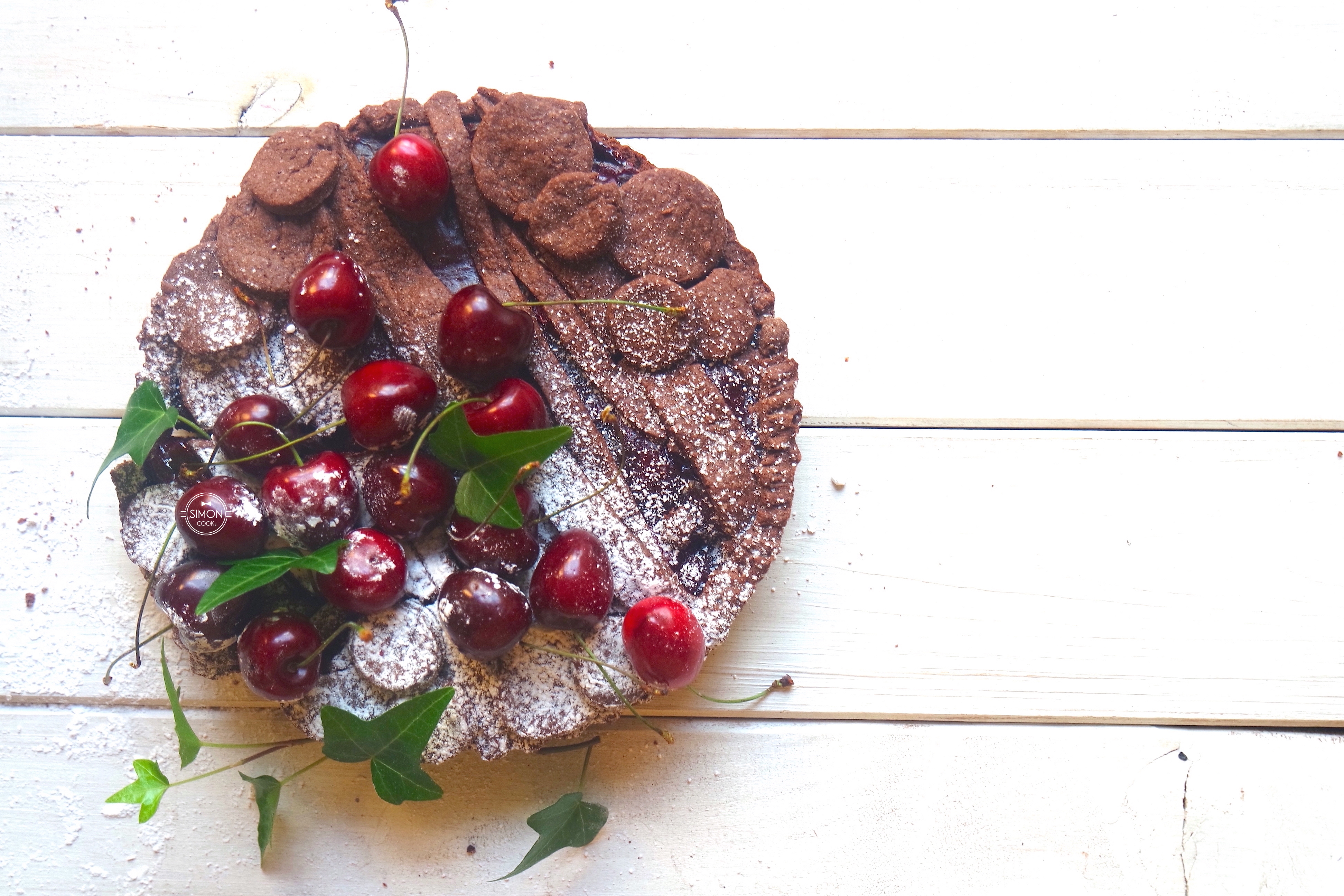 Simon COOKs tarta czekoladowa wiśnie z wiśniami czekolada szymon czupkiewicz