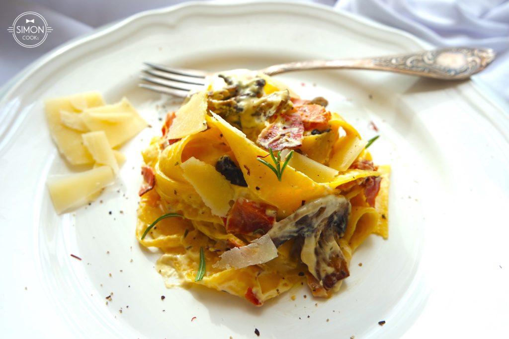 makaron z sosem szafranowym parmeńska simon cooks szymon czupkiewicz masterchef pasta carbonara