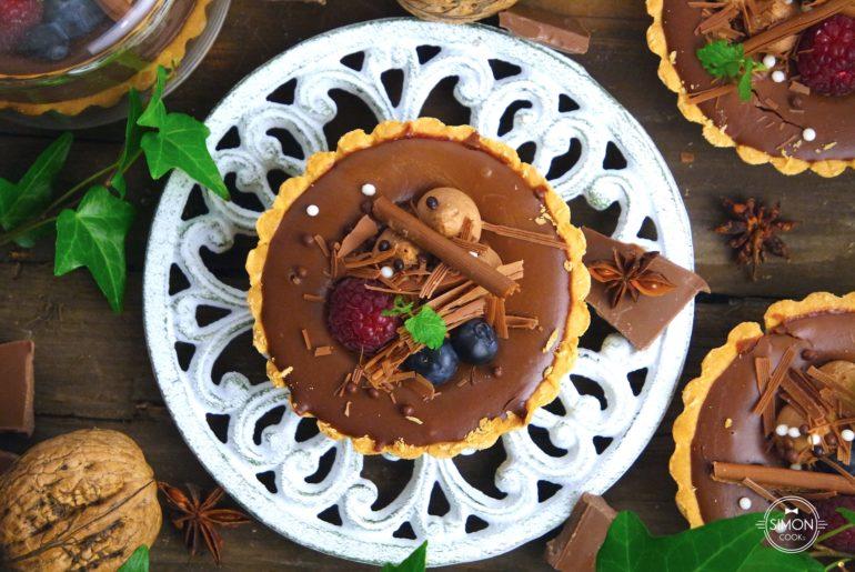 tartaletka czekoladowa z owocami leśnymi czekolada masterchef simon cooks