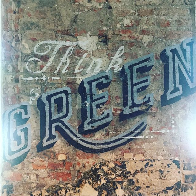 Think green mural graffiti graffitiart art  simoncooks lifestyle lifestylebloggerhellip